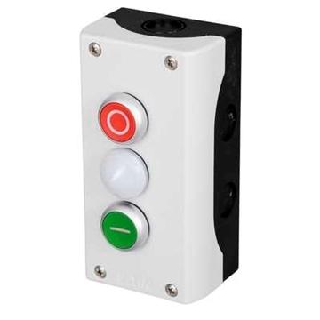 Εικόνα της Mπουτονιέρα button start-stop ενδεικτικη λυχνία M22-I3-M2 Moeller