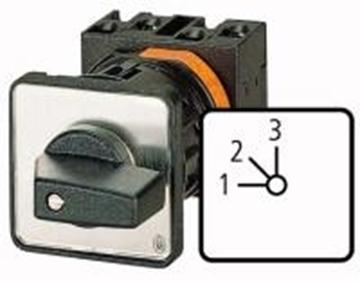 Εικόνα της T0-2-8230/E  Βαθμικοί διακόπτες, Επαφές: 3, 20 A, μπροστινή πλάκα: 1-3, 45 ° , συντηρημένες, Χωρίς θέση 0 (Off), 1-3 Moeller