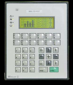 Εικόνα της M14-110-KG2 Moνόχρωμη LCD οθόνη 4Χ20 χαρακτήρων 120Χ32 pixels.12 fuction key Moeller