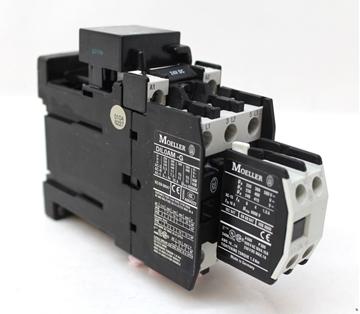 Εικόνα της DIL0AM-G(24VDC)  Τριπολικά ρελέ ισχύος 11KW με ονομαστικό ρεύμα 22,2Α με πηνίο 24V Moeller