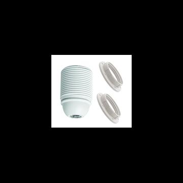 Εικόνα της Ντουί Θερμοπλαστικό Με Βόλτες E27 + 2 Ροδέλες Λευκό