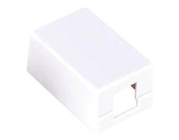 Εικόνα της Πριζα Δικτυου Επιτοιχη 1P Slim Λευκη N121-01 Comp