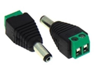 Εικόνα της Dc Adaptor Θηλυκο 5.5/2.1Mm Σε Κλεμα 2P Color Bag Victronic Dy3801A Owi