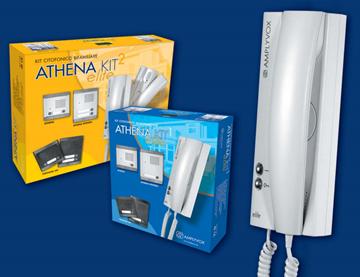 Εικόνα της Κιτ Θυροτηλεφώνου 1 κλήσης με ενδοεπικοινωνία 4+Ν εξωτερική μπουτονιέρα 3385Α/1 Athena+Elite Amplyvox