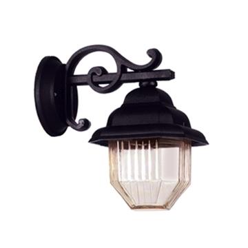 Εικόνα της Φωτιστικό Απλίκα Τοίχου Εξωτερικού Χώρου Πλαστική N.114 Μαύρη LIDO 101023