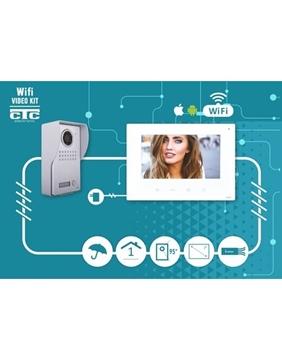 Εικόνα της Kit εισόδου πόρτας WiFi Θυροτηλεόραση 1εξ. 1εσωτ. Ασημί-Λευκό CTC