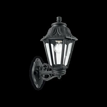 Εικόνα της Φωτιστικά Εξωτερικού Χώρου Φαναράκια ANNA AP1 BIG NERO 101491 Ideal Lux