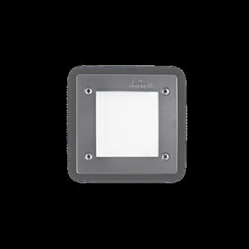 Εικόνα της Φωτιστικό Δαπέδου Χωνευτό LETI PT1 SQUARE GRIGIO 096599 Ideal Lux
