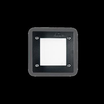 Εικόνα της Φωτιστικό Δαπέδου Χωνευτό LETI PT1 SQUARE NERO 096582 Ideal Lux