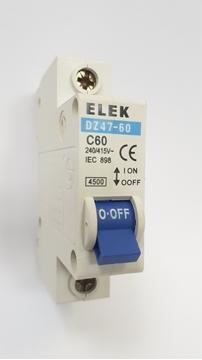 Εικόνα της Αυτόματη Ασφάλεια 1P C 4,5kA 60Α ELEK