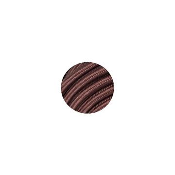 Εικόνα της Καλώδιο Υφασμάτινο 2Χ0.75mm² Καφέ Στρογγυλό