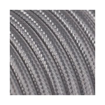 Εικόνα της Καλώδιο Υφασμάτινο 2Χ0.75mm² Ασημί Στρογγυλό