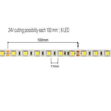Εικόνα της Ταινια LED (5M) Ip20 Smd5050 24V 14,4W 4000K Vk/24/5050/C/60