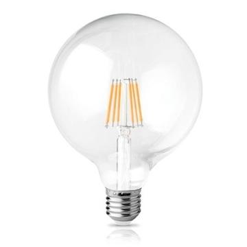 Εικόνα της Λάμπα Led Filament Γλομπος E27 Διάφανο 12W 2800K 840Lm Φ125 FOSME 44-05392