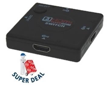 Εικόνα της Data Switch Hdmi 3 Σε 1 Συσκευες (Auto) Sut-Owi