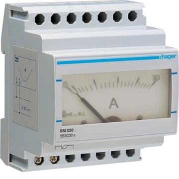 Εικόνα της Αμπερόμετρο Αναλογικό 0-30Α Hager SM030