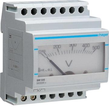 Εικόνα της Βολτόμετρο Αναλογικό 0-500V Hager SM500
