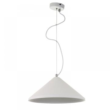 Εικόνα της Φωτιστικό Κρεμαστό Καπέλο Κωνικό Γύψινο/Λευκό Inlight 4511