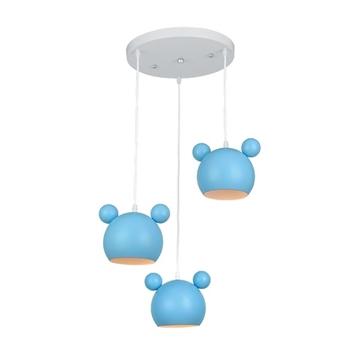 Εικόνα της Mickey φωτιστικό κρεμαστό 3xE27 μπλε 955MICKEY3/B Elmark