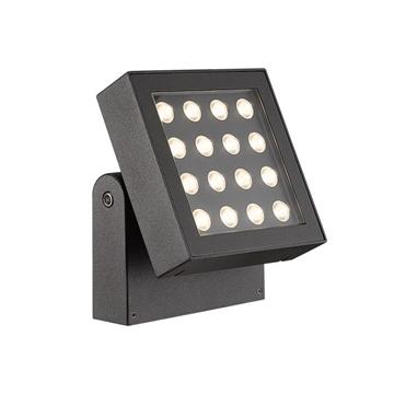 Εικόνα της Led φωτιστικό αλουμ. τοίχου κινητό 16w 3000K 1001Lm IP65 Ανθρακί 75169-351694 VK Lighting