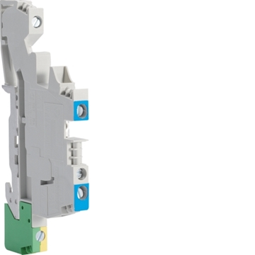 Εικόνα της Ακροδέκτης Σύνδεσης Γκρι L+N+Pe 4mm² Hager KXA04I2