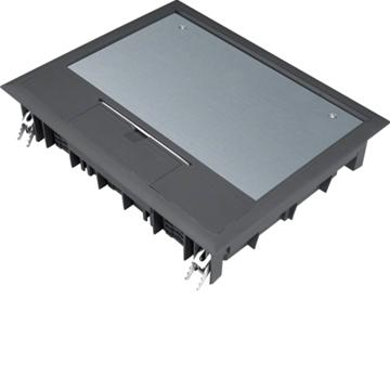 Εικόνα της Ενδοδαπεδίο Κουτί 18Στ. 77mm Μαύρο Hager
