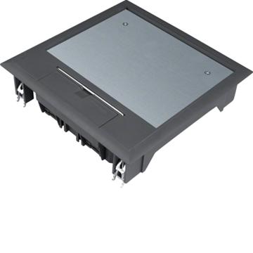 Εικόνα της Ενδοδαπεδίο Κουτί 12Στ. 77mm Μαύρο Hager