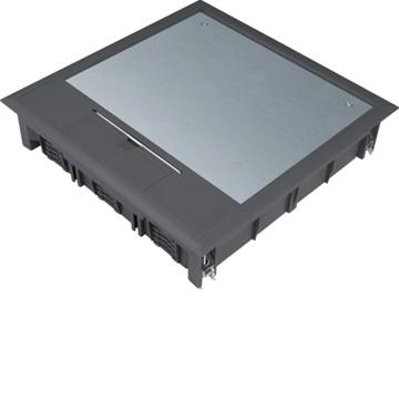 Εικόνα της Ενδοδαπεδίο Κουτί 24Στ. 77mm Μαύρο Hager