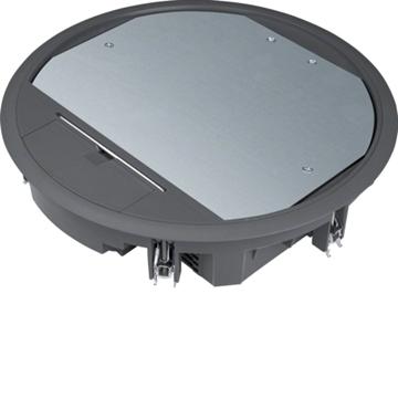 Εικόνα της Ενδοδαπεδίο Κουτί 20Στ. 77mm Μαύρο Hager