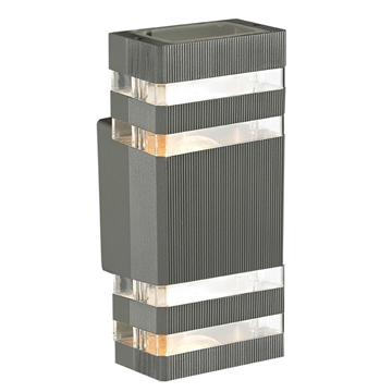 Εικόνα της Φωτιστικό Απλίκα Δίφωτο IP44 Γραφίτη Αλουμίνιο/PVC Sunlight JB8091/2