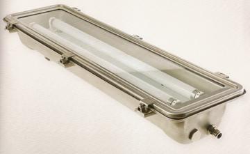 Εικόνα της 2X18 Στεγανό φωτιστικό INOX για Τ8 λάμπες φθορισμού