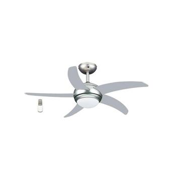"""Εικόνα της Ανεμιστήρας Οροφής Μονόφωτος LED (52"""") Silver 5 Πτερυγίων Με Τηλεχειριστήριο Brand 1164"""