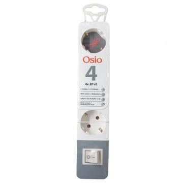 Εικόνα της Osio OPS-2004 Πολύπριζο 4 θέσεων με παιδική προστασία, διακόπτη και καλώδιο 1.5 m