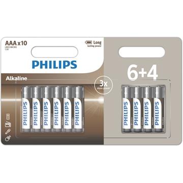 Εικόνα της LR03A10BP/GRS Αλκαλικές Μπαταρίες Υψηλής Απόδοσης 10 ΤΜΧ AAA Philips