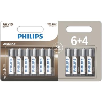 Εικόνα της LR6A10BP/GRS Αλκαλικές Μπαταρίες Υψηλής Απόδοσης 10 ΤΜΧ AA Philips