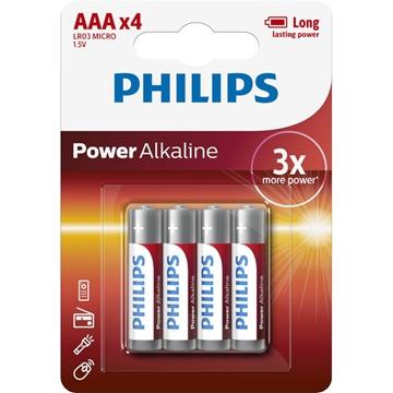 Εικόνα της LR03P4B/GRS POWER ALKALINE Αλκαλικές Μπαταρίες Υψηλής Απόδοσης 4 ΤΜΧ AAA Philips