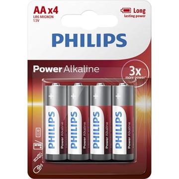 Εικόνα της LR6P4B/GRS POWER ALKALINE Αλκαλικές Μπαταρίες Υψηλής Απόδοσης 4 ΤΜΧ AA Philips