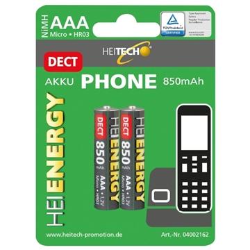 Εικόνα της Heitech 04002162 Επαναφορτιζόμενες μπαταρίες για ασύρματα τηλέφωνα ΑΑΑ / LR03 / Micro