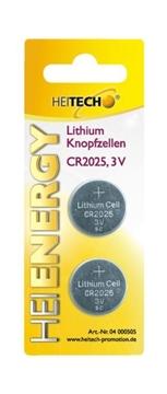Εικόνα της Heitech 04000505 Μπαταρίες λιθίου 2 τμχ CR 2025 150mAh 3V
