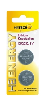 Εικόνα της Heitech 04000507 Μπαταρίες λιθίου 2TMX-Blister CR 2032 210mAh 3V