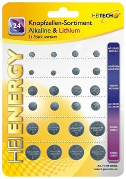 Εικόνα της Heitech 04000326 Μπαταρίες αλκαλικές και λιθίου 24 τμχ διάφορα μεγέθη