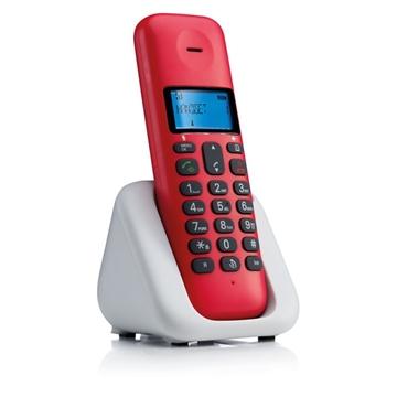 Εικόνα της Motorola T301 Cherry (Ελληνικό Μενού) Ασύρματο τηλέφωνο με ανοιχτή ακρόαση