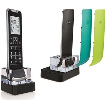 Εικόνα της Motorola IT.6.1XC (Ελληνικό μενού) Λεπτό ασύρματο τηλέφωνο με τρία ανταλλακτικά χρωματιστά καπάκια