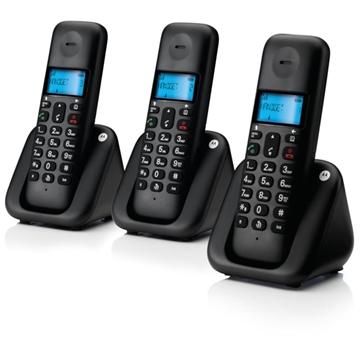 Εικόνα της Motorola T303 (Ελληνικό Μενού) Τριπλό ασύρματο τηλέφωνο με ανοιχτή ακρόαση