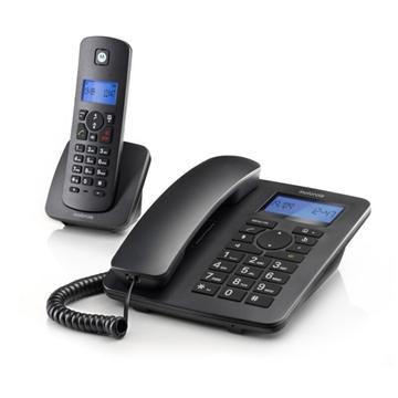 Εικόνα της Motorola C4201 COMBO Ενσύρματο και ασύρματο τηλέφωνο σετ