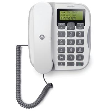 Εικόνα της Motorola CT510 GR Ενσύρματο τηλέφωνο με μεγάλα πλήκτρα, ανοιχτή ακρόαση και LED
