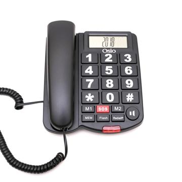 Εικόνα της Osio OSWB-4760B Τηλέφωνο με μεγάλα πλήκτρα, ανοιχτή ακρόαση και SOS
