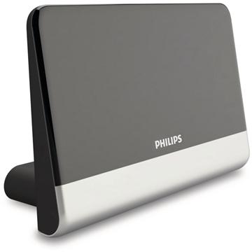 Εικόνα της Philips SDV6222/GRS Κεραία τηλεόρασης HDTV/4K/UHF/VHF/FM εσωτερικού χώρου με ενισχυτή 48 dB και φίλτρο GSM - 21 x 14 cm