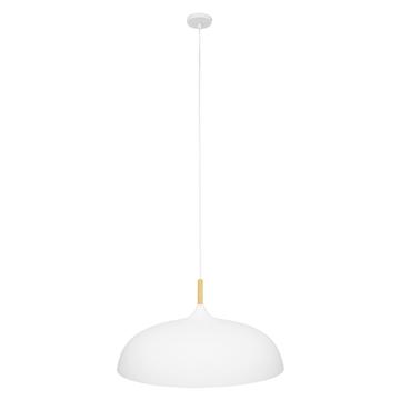 Εικόνα της GloboStar® ZOE 00837 Μοντέρνο Κρεμαστό Φωτιστικό Οροφής Μονόφωτο Λευκό Μεταλλικό Καμπάνα Φ60 x Υ35cm