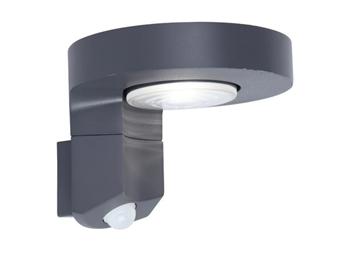Εικόνα της Φωτιστικο Diso Απλικα Φ17cm Ηλιακo & Sensor Led 2W Ανθρακι LUTEC 6906702335